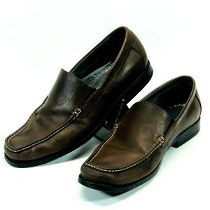 Bostonian  27107 Men's Brown Leather Slip On 11M